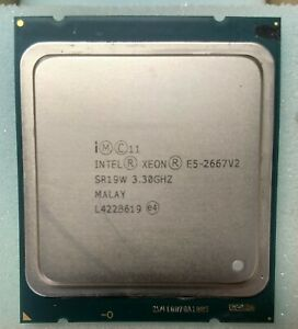 Intel Xeon Processor E5-2667 V2 3.30GHz - 8 Core CPU SR19W - 25MB Cache tested