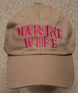 Embroidered Baseball Cap Military USMC Marine Wife NEW 1 hat size fits all