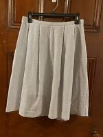 Brooks Brothers Red Fleece line Blue/white stripe skirt sz 6