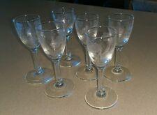 Vintage Lot of 6 Floral Flower Cut Mini Glass/Crystal Globlets/Codials