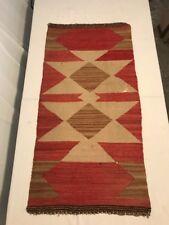 "Vintage Navajo Saddle Blanket  18"" X 28"""