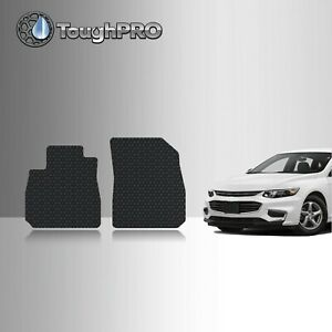 ToughPRO Front Mats Black For Chevrolet Malibu All Weather Custom Fit 2017-2022
