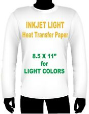 Ink Jet Heat Iron On Transfer Paper Light 85 X 11 2 Sheets