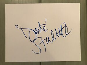 Donte Stallworth Signed Autographed Auto 8x10 White Photo Paper