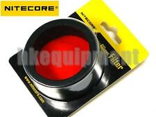 NiteCore NFR60 60mm Red Lens Cap Filter TM11, TM15, MH40, EA8 Flashlight