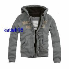 Abercrombie & Fitch Boy's Fur Hooded Jacket Gray $140 XL