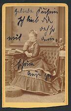 CDV c. 1880 - Jeune Fille Belle Toilette Ph. Kiewning Stettin Allemagne - T606