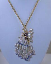 Kirks Folly Trinity Maiden Sea Fairy Pin / Pendant Necklace - gold finish
