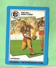 1989 STIMOROL RUGBY LEAGUE CARD #84 TONY REA, NORTH SYDNEY BEARS