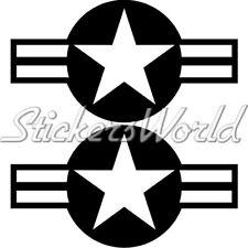 """US AirForce Roundel USAF NAVY USMC ARMY 6,3"""" Sticker x2"""