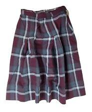 Berkley Uniforms Teen Girl School Uniform Pleated Skirt Plaid Burgundy Gray W21