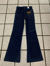 Vintage Boys Jeans Bell Bottom Western Flare 24 X 25.5 Dark Denim 1970s NEW Sz 7