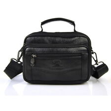 Men's Genuine Cow Leather Briefcases Crossbody Shoulder Small Belt Waist Bags