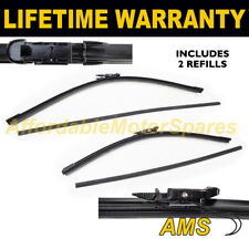 "FRONT AERO WIPER BLADES PAIR 26"" + 15"" FOR FIAT PUNTO GRANDE PUNTO 2005 ON"