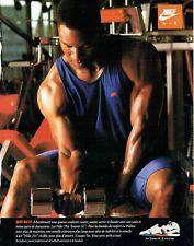 Publicité Advertising 039  1994  Baskets Nike Air trainer SC  Bo Jackson basebal