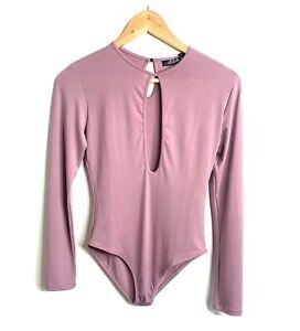 Motel Womens Lilac Lowcut Bodysuit - Size Small