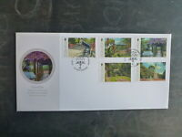 GIBRALTAR 2016 200th ANNIV ALAMEDA GARDENS SET 5 STAMPS FDC FIRST DAY COVER