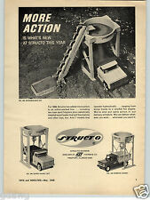 1968 PAPER AD Structo Toy Super Sandy Set Dump Truck Kompak Sandy Roadbuilder