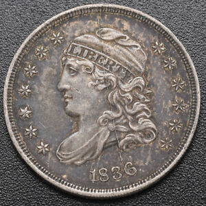 1836 Capped Bust 1/2 10c (Half Dime) Choice About Uncirculated