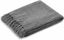 """Americanflat Chenille Polyester Throw Blanket with Fringe- 50"""" x 60"""""""