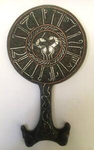 Islamic Seljuk  Silver and Inlaid Brass Copper Mirror