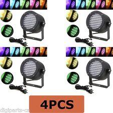 4PCS 4 Pack 86 PAR RGB LED Stage Light Party Show DMX Lighting Disco Projector