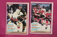 2 X 1980-81 OPC STANLEY CUP  CARD (INV# A7593)
