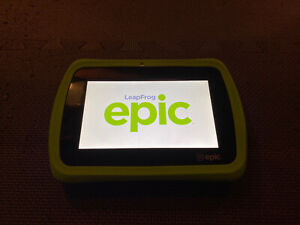 LeapFrog Green LeapPad Epic WiFi Tablet — Tested/Reset   Stylus   Gel Skin
