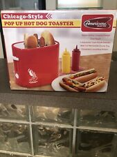 Pop-Up Hot Dog Toaster Retro Americana New ECT-304R RED 3 Step Easy Cook