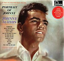 "JOHNNY MATHIS Portrait Of Johnny 12"" LP + PRINT Fontana 1961 UK TFL5153 @N/Mint"