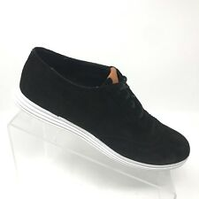 Cole Haan Grand OS Misha Black Suede Optic White Oxford Womens Shoe SIZE 8 B
