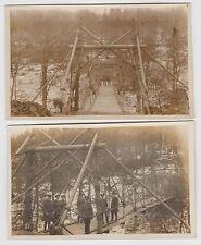 Bridge Buliding (R.E.?) in WW1 (1917): Pair of Real Photo PPCs, with names/ranks