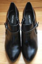NINE WEST WOMENS METRA BLACK ANKLE BOOTS SIZE 10