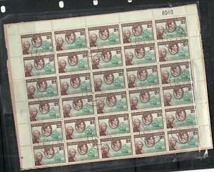 PITCAIIRN ISLANDS (P2212B)  KGVI 2D SHEET # BLOCK  OF 25 CDS  VFU