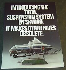 1981 SKI-DOO BLIZZARD SNOWMOBILE SALES BROCHURE 4 PAGES   (053)