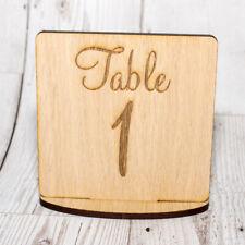 Wedding Table Number Decoration Wooden Set of 4
