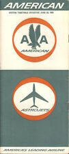 American Airlines system timetable 6/28/65 [5126] Buy 4+ save 25%