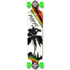 Yocaher Drop Down Longboard Complete - Palm City Rasta