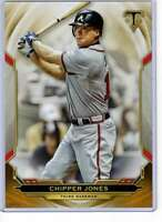 Chipper Jones 2019 Topps Triple Threads 5x7 Gold #42 /10 Braves