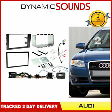 CTKAU02 Car Stereo Double Din Fascia & Steering Interface Kit For Audi A4 01-08