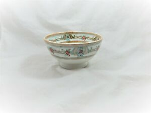 Antique MAASTRICHT Petrus Regout Porcelain Footed Bowl, Made in Holland, Bellus