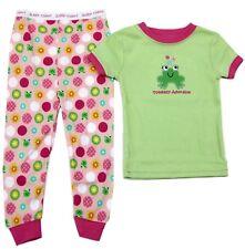 Toddler Girls Pajamas Organic Cotton 2 Piece Sleepwear Tee Pant Set 3T Pink New