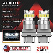 2X AUXITO 3157 3156 4157 Canbus LED Error Free Reverse Brake Light Bulb 6500K