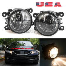Fog Lights For Honda Civic 2013-2016 2017 PAIR Bumper Replacement Clear Lens USA