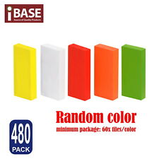 480x Wooden Domino Colored Tiles Tumbling Dominoes Knock M Down Kids Toy Gift