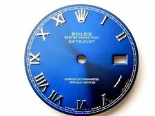 Rolex Mens Datejust Stainless Steel Blue Roman Numeral Dial