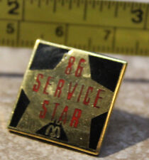McDonalds 1986 '86 Service Star Canada Employee Collectible Pinback Pin Button