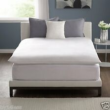 Pacific Coast TWIN Featherbed Zip Cover White Woven Stripe 300tc 100% Cotton