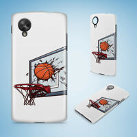 BASKETBALL & BASKETBALL RING 1 HARD PHONE CASE COVER FOR NEXUS 5 5X 6 6P