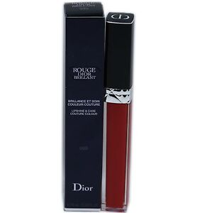 ROUGE DIOR BRILLANT LIPSHINE & CARE COUTURE COLOUR 6ML #999 NIB-F077325999